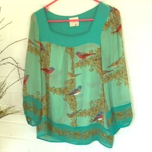 Anthropologie Vanessa Virginia silk blouse